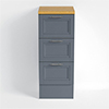 Heritage - Caversham 320mm Drawer Unit with Pewter Handles - Graphite profile small image view 1