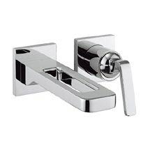 Crosswater KH Zero 1 Wall Mounted 2 Hole Set Basin Mixer - KH01_120WNC Medium Image