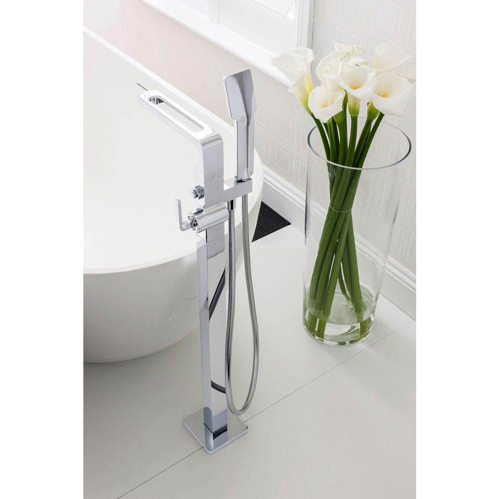 Crosswater KH Zero 1 Floor Mounted Freestanding Bath Shower Mixer - KH01_415FC profile large image view 2