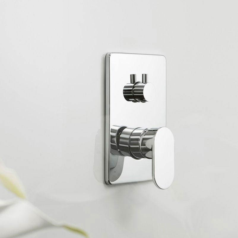 Crosswater KH Zero 2 Concealed Manual Shower Valve with 3 Way Diverter - KH02_0006RC Profile Large Image