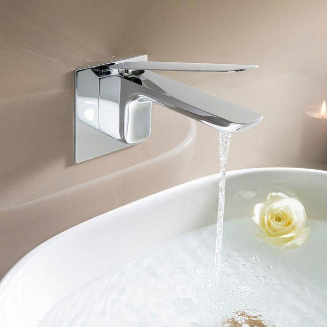 Crosswater KH Zero 2 Wall Mounted Monobloc Basin Mixer - KH02_120WNC Profile Large Image