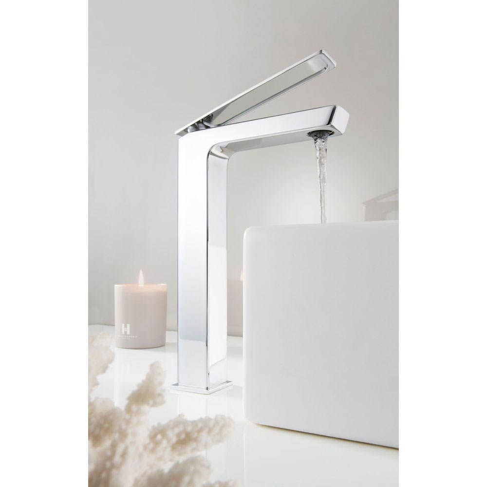 Crosswater KH Zero 3 Tall Monobloc Basin Mixer - KH03_112DNC profile large image view 2