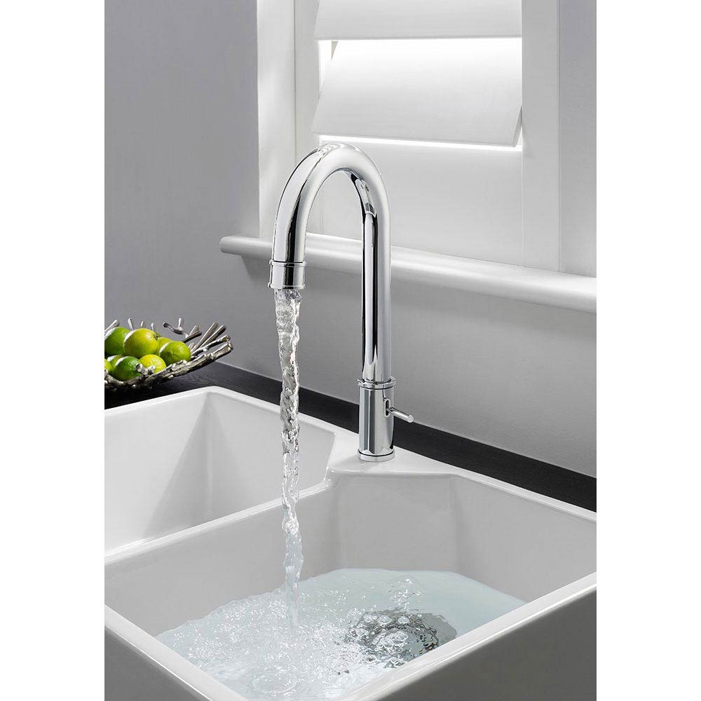 Crosswater KH Zero 5 Side Lever Kitchen Mixer - KH05_712DC profile large image view 2