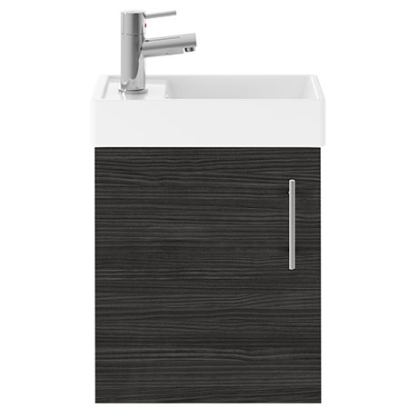 Kington W400 x D222mm Hacienda Black Compact Wall Hung Basin Unit