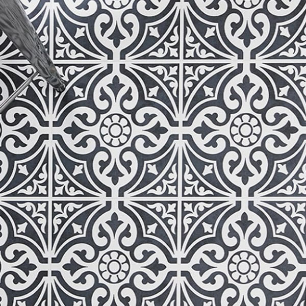 Kingsbridge Black Patterned Tiles | Why Do Patterned Tiles Work So Well In The Bathroom?
