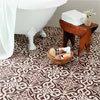 Kingsbridge Brown Patterned Floor Tiles - 331 x 331mm Small Image