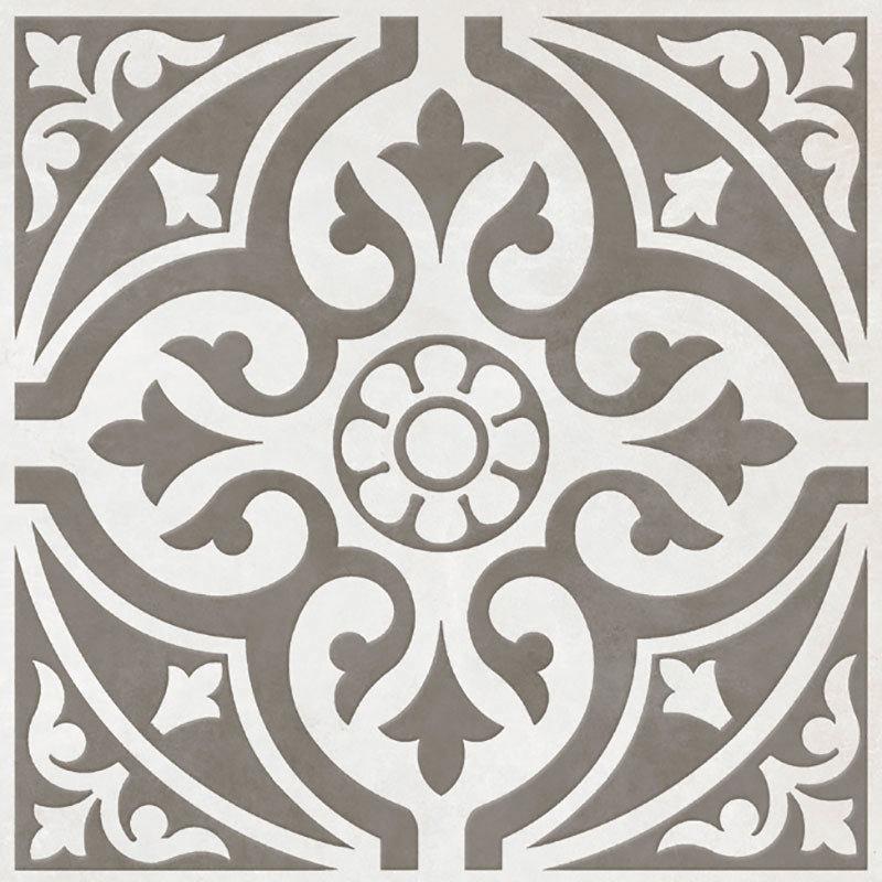 Kingsbridge Grey Patterned Floor Tiles - 331 x 331mm  Feature Large Image