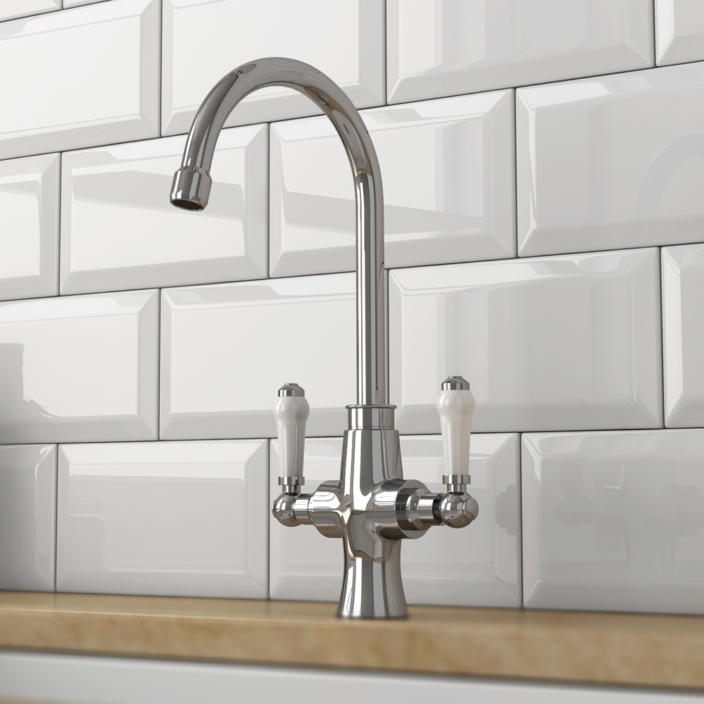 Dual-Lever Traditional Kitchen Tap