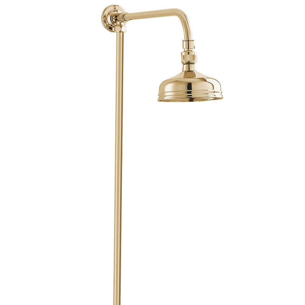 "Deva Traditional Shower Kit with 5"" Shower Rose - Gold"