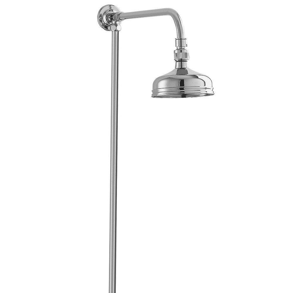 Deva Period Style Rigid Riser Shower Kit - Chrome - KITS08