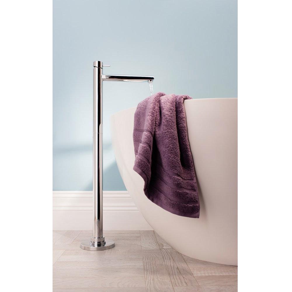 Crosswater - Kai Lever Floor Mounted Freestanding Monobloc Bath Filler - KL315FC profile large image view 2