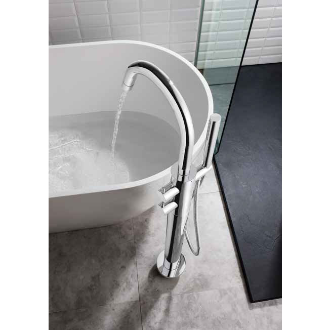 Crosswater - Kai Lever Thermostatic Bath Shower Mixer with Kit - KL418TFC profile large image view 2