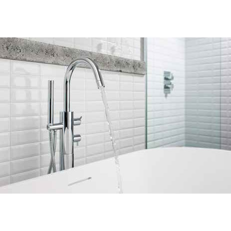 Crosswater - Kai Lever Thermostatic Bath Shower Mixer with Kit - KL418TFC profile large image view 3