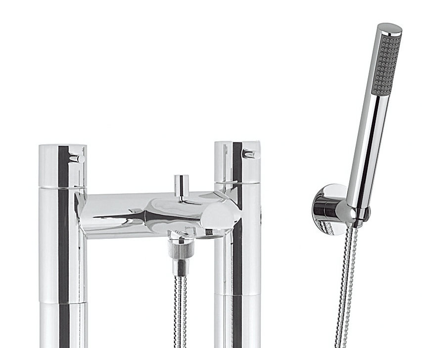 Crosswater - Kai Lever Floor Mounted Freestanding Bath Shower Mixer - KL422DC-AA002FC Profile Large Image