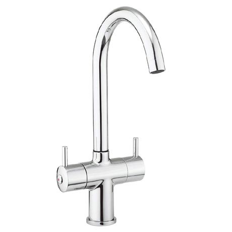 Crosswater - Cucina Kai Lever Dual Lever Kitchen Mixer - Chrome - KL711DC