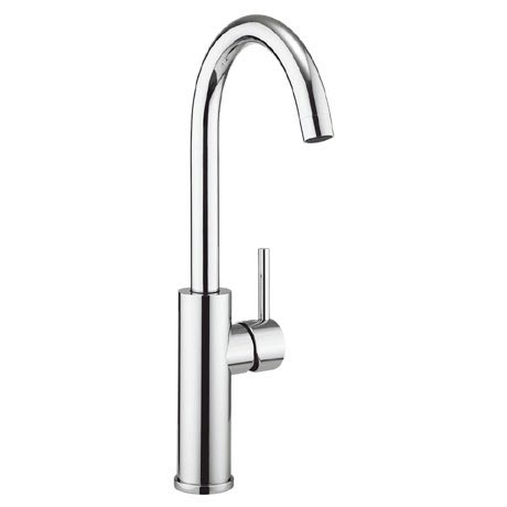 Crosswater - Cucina Kai Lever Tall Side Lever Kitchen Mixer - Chrome - KL712DC