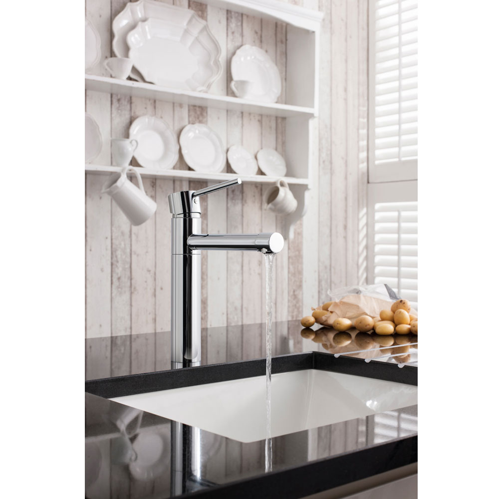 Crosswater - Cucina Kai Lever Monobloc Kitchen Mixer - Chrome - KL716DC Profile Large Image