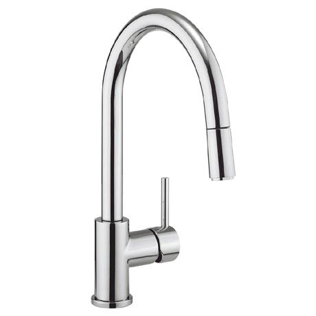 Crosswater - Cucina Kai Lever Side Lever Kitchen Mixer with Pull Out Spray - Chrome - KL717DC