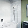 Crosswater Kai 6 Mini Fixed Bath Screen profile small image view 1