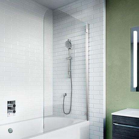 Crosswater Kai 6 Single Hinged Panel Bath Screen