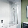 Crosswater Kai 6 Single Hinged Panel Bath Screen profile small image view 1