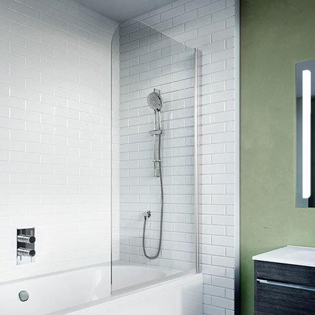 Crosswater 900mm Kai 6 Single Panel Bath Screen - KLBSSC0900