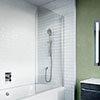 Crosswater 900mm Kai 6 Single Panel Bath Screen - KLBSSC0900 profile small image view 1