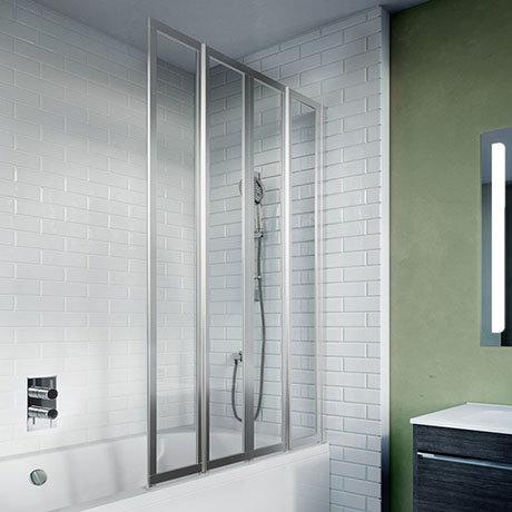 Crosswater 800mm Kai 6 Four Panel Fully Folding Bath Screen