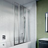 Crosswater 800mm Kai 6 Four Panel Fully Folding Bath Screen profile small image view 1