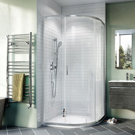 Crosswater 800 x 800mm Kai 6 Quadrant Single Door Shower Enclosure - KLQSSC0800