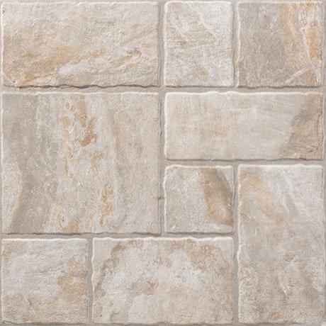 Kochi Beige Stone Effect Floor Tiles - 450 x 450mm