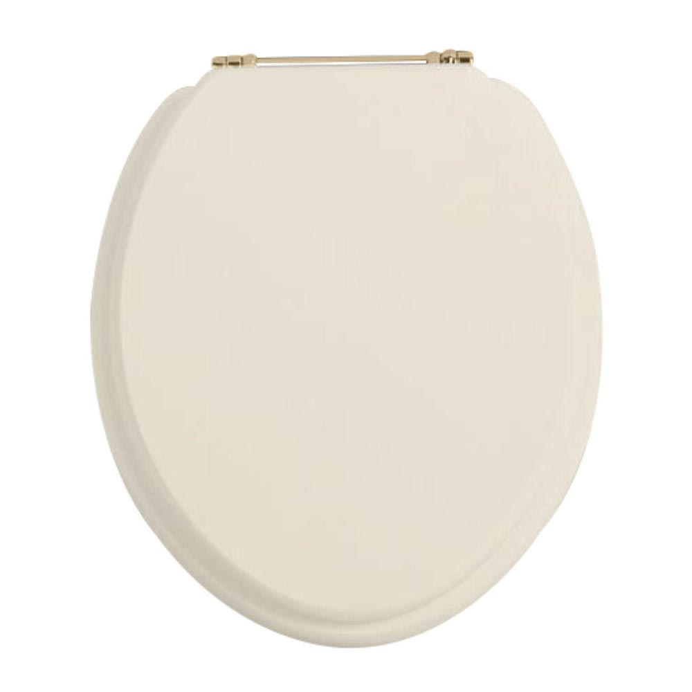 Heritage - Standard Toilet Seat with Gold Hinges - Various Colour Options Large Image