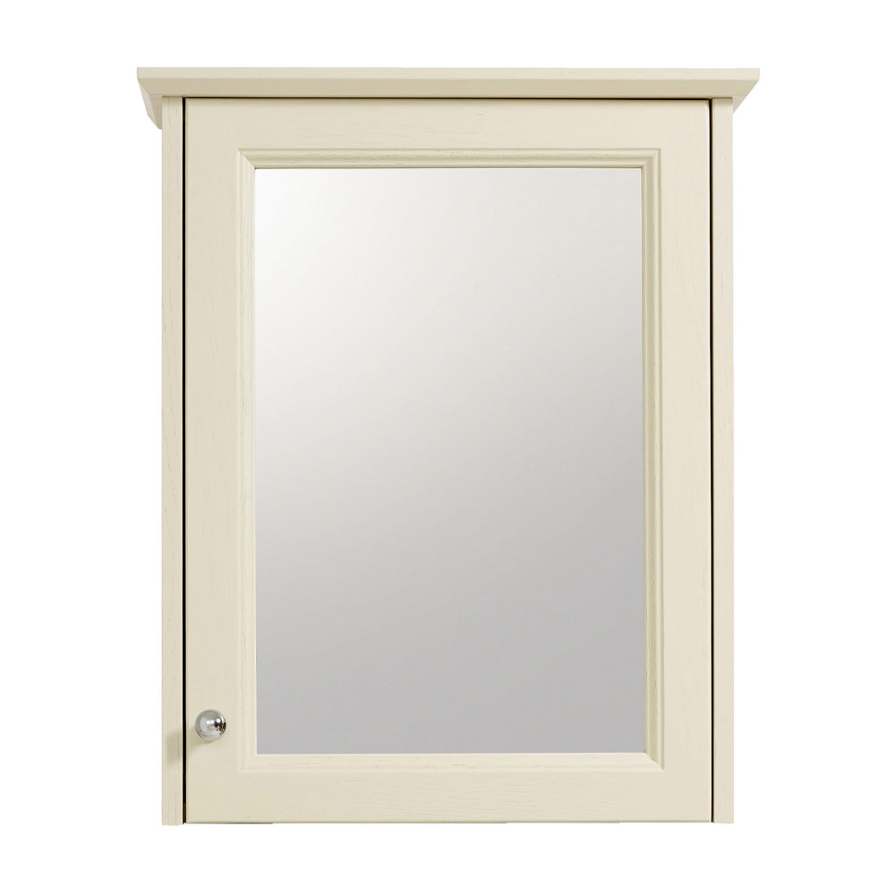 Heritage - Caversham Single Door Mirrored Wall Cabinet with Chrome Handle - Various Colour Options Large Image