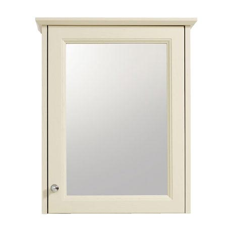 Heritage - Caversham Single Door Mirrored Wall Cabinet with Chrome Handle - Various Colour Options
