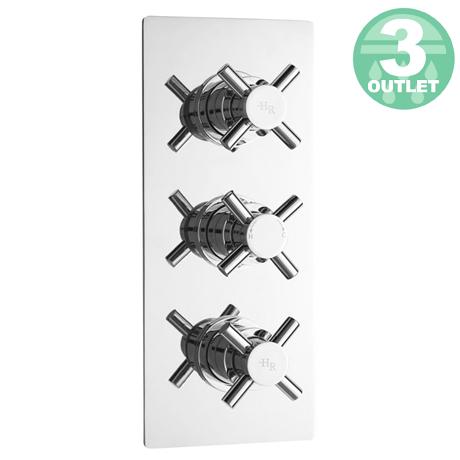 Hudson Reed - Kristal Triple Concealed Thermostatic Shower Valve w Diverter - KRI3023