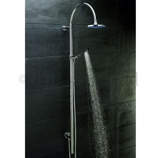 Hudson Reed Kristal Twin Concealed Thermostatic Shower Valve with Rigid Riser Kit profile large image view 2