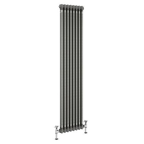 Keswick 1800 x 372mm Raw Metal (Lacquered) 2 Column Radiator
