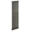 Keswick 1800 x 372mm Raw Metal (Lacquered) 2 Column Radiator profile small image view 1