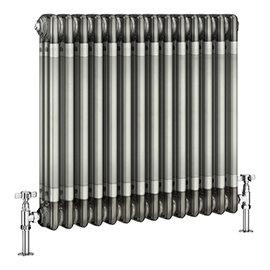 Keswick 600 x 643mm Raw Metal (Lacquered) 3 Column Radiator