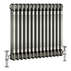 Keswick 600 x 643mm Raw Metal (Lacquered) 3 Column Radiator profile small image view 1