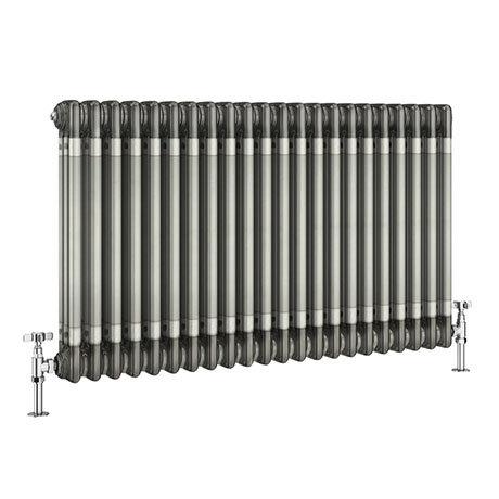 Keswick 600 x 999mm Raw Metal (Lacquered) 3 Column Radiator