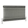 Keswick 600 x 999mm Raw Metal (Lacquered) 3 Column Radiator profile small image view 1