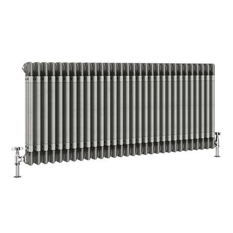Keswick 600 x 1355mm Raw Metal (Lacquered) 3 Column Radiator