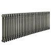 Keswick 600 x 1355mm Raw Metal (Lacquered) 3 Column Radiator profile small image view 1