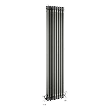 Keswick 1800 x 376mm Raw Metal (Lacquered) 3 Column Radiator