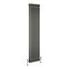 Keswick 1800 x 376mm Raw Metal (Lacquered) 3 Column Radiator profile small image view 1