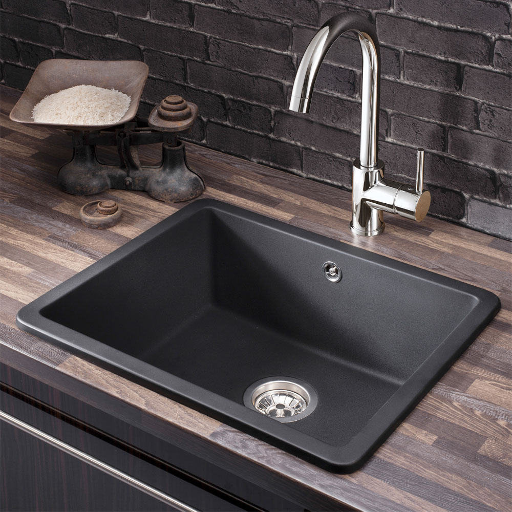 Crosswater - Cucina Tone 1.0 Single Bowl Kitchen Sink - KS_TN5646RB profile large image view 2