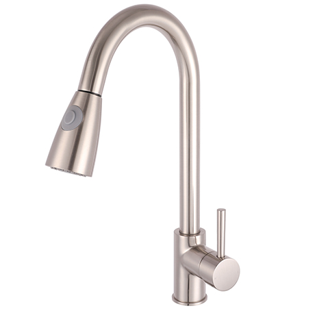 Murcia Brushed Steel Kitchen Tap