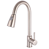 Murcia Brushed Steel Kitchen Tap profile small image view 1