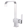 Calpe Square Modern Kitchen Tap profile small image view 1